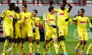 Les joueurs célèbrent le but victorieux face à Liverpool
