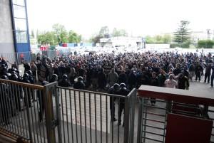 Zagreb, 27.04.2013 - Nogomet: 1.HNL, utakmica Dinamo - Slaven Belupo, navijaci