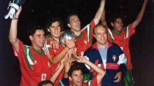 Figo et Jorge Costa en 1991