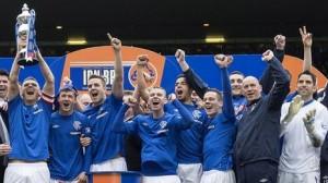 Les Glasgow Rangers champion de division 3.