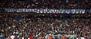La banderole anti ch'tis lors de la finale de la Coupe de la ligue