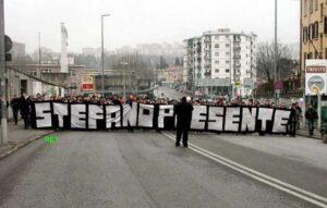 Hommage des ultras de Trieste à Stefano en 1994