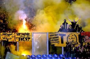 Les supporters de Dortmund en déplacement. (DR)