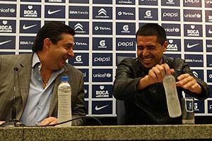 Riquelme et son président, Daniel Angelivi. (DR)
