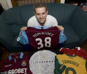 Dylan Tombides, jeune attaquant des Hammers et international Australien. (DR)