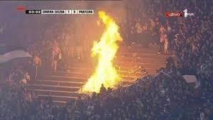 Un match comme tant d'autres du côté de Belgrade. (DR)