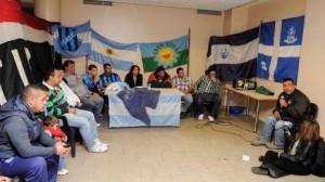 la conférence de presse d'Hinchadas Unidas Argentinas