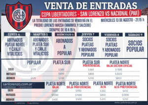 Prix des places pour le match retour de Copa Libertadores. (DR)