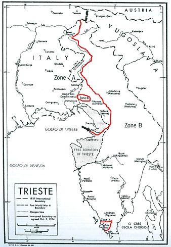 Ici le découpage du Territoire Libre de Trieste