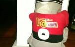 Ritter Keule, la mascotte de l'Union Berlin, rendue saine et sauve (DR).