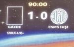 """Le marquoir lors de """"Steaua"""" - C.S.M.S. Iasi, ce week-end. (DR)"""