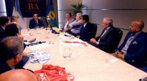 Réunion au sommet à Buenos Aires entre les présidents de clubs. (DR)
