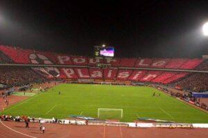 Les ultras Egyptiens de  ahlawy lors de la finale de la CAF. (DR)