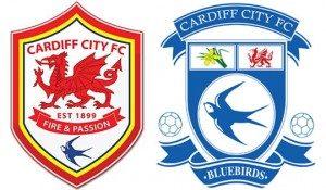 Le nouveau logo (à gauche) suite à la promotion en Premier League. (DR)
