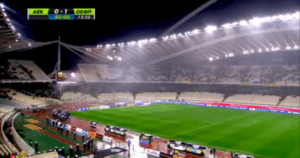 Les 70.000 spectateurs invitaient à quitter le stade après l'incident. (DR)