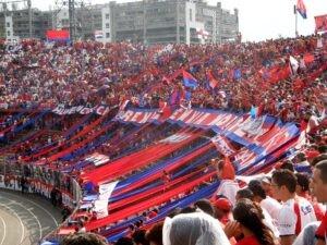 Les supporters d'Independiente Medellín à l'Atanasio Girardot.