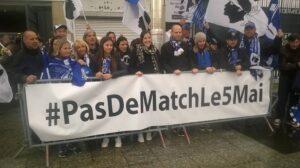 Les membres du collectif ont profité de la finale de la Coupe de la Ligue entre Bastia et le PSG pour faire passer leur message.