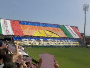Tifo de la Curva Sud Siberiano lors de Salerne - Alessandria en Série D (5e division)