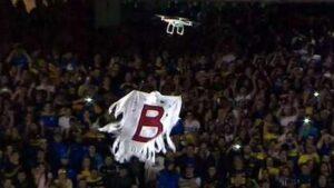 le drone des supporters de Boca