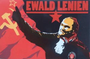 Autocollant des supporters de Sankt Pauli, jouant sur le jeu de mot entre Lenin et Lienen – source : sixmoment.com