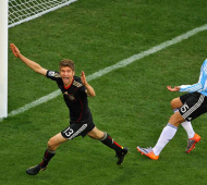 Thomas Müller après son but contre l'Argentine - Bongarts/GettyImages