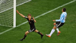 Thomas Müller après son but contre l'Argentine - Bongarts/GettyImages