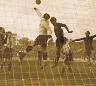 Ricardo Zamora, mythique gardien de l'Español, lors d'un derby. (DR)