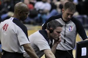 L'arbitrage vidéo en NBA.