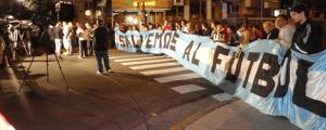 Manifestation organisée par Salvemos Al Futbol à Buenos Aires